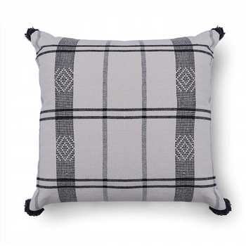 Cotton Knitted Cushion Cover with Tassels