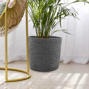 Charcoal Grey Cotton Basket