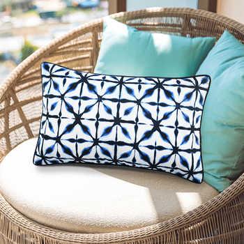 Indigo Blue Shibori Pet Digital Print Cushion