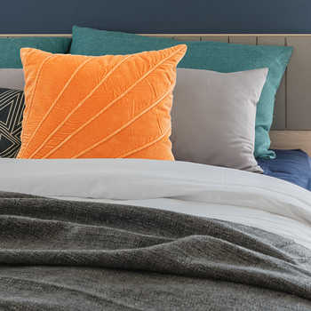 Orange Velvet Cushion