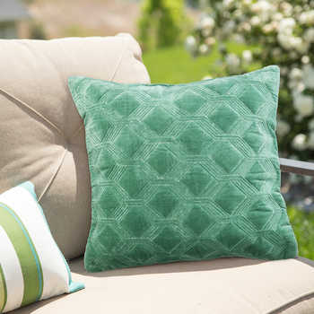 Turquoise Embroidered Cushion