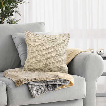 Ivory Cotton Handwoven Cushion