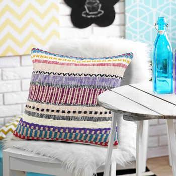 Multi Color Handwoven Cushion
