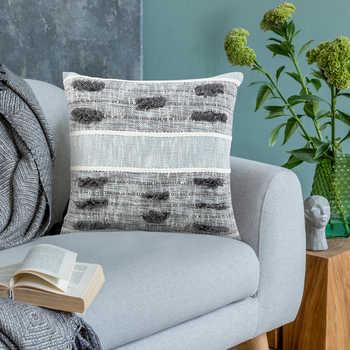 Grey Hand Woven Cotton Cushion
