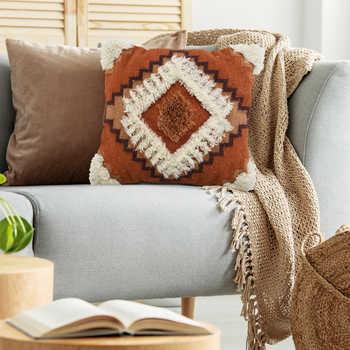 Rust Kilim Wool Woven Cushion