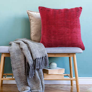 Fuchsia Pink Chenille Fabric Cushion