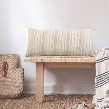 Ivory Woven Cotton Cushion