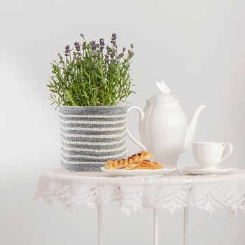 Grey Pet Woven Basket