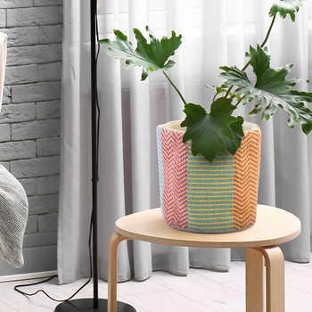 Multicolor Cotton Woven Basket