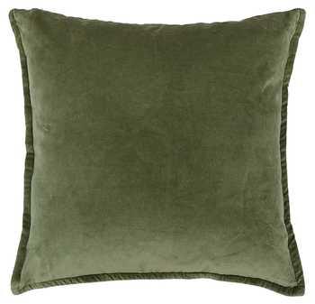 Olive Green Plain Chenille Cushion Cover
