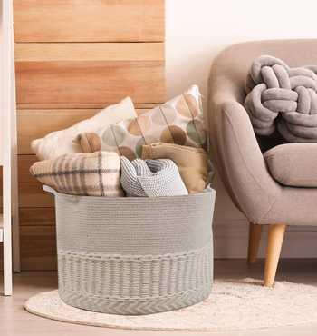 Ivory Wool/Cotton Basket