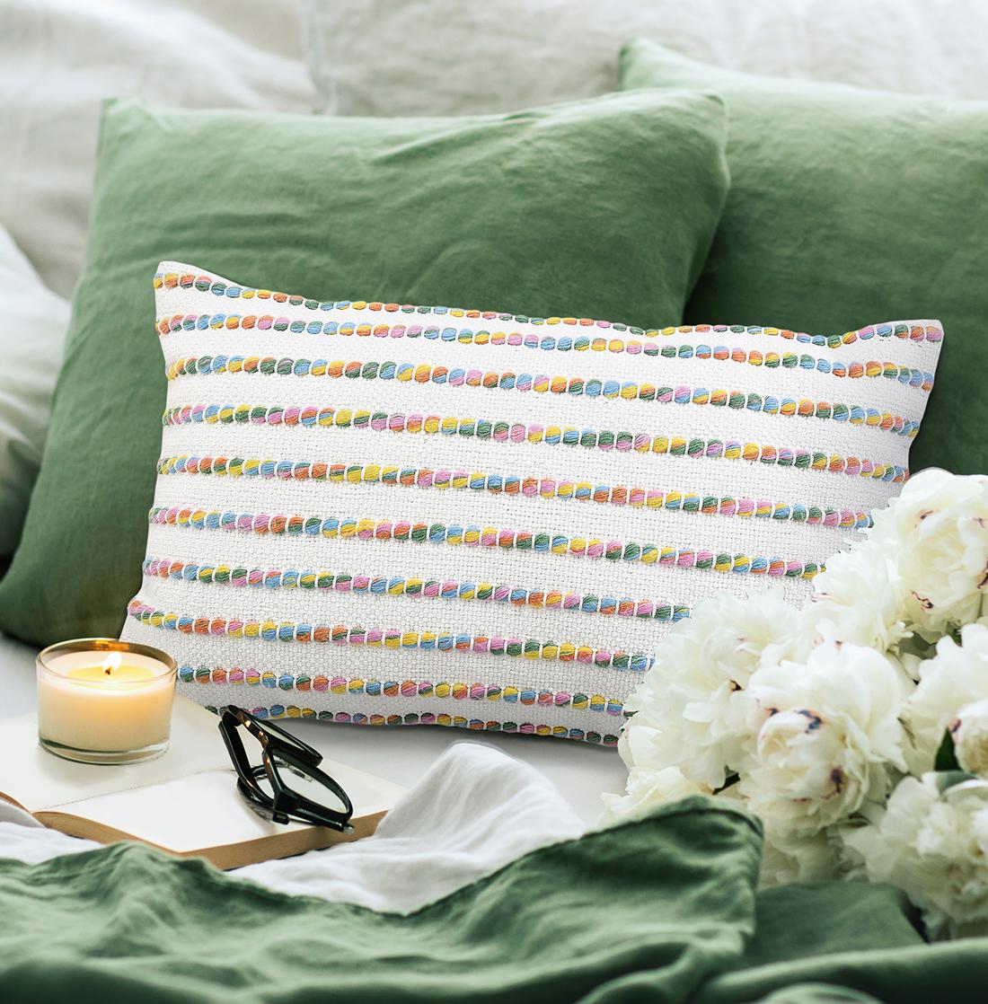 Ivory Multi Pet Woven Cushion