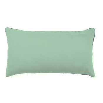 Green Chenille Jacquard Pillow Cover