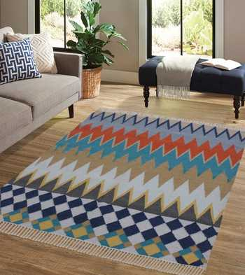 Hand Woven Wool/Cotton Rug