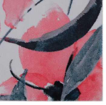 Peach Hibiscus Rug