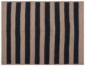Hand woven jute stripe rug