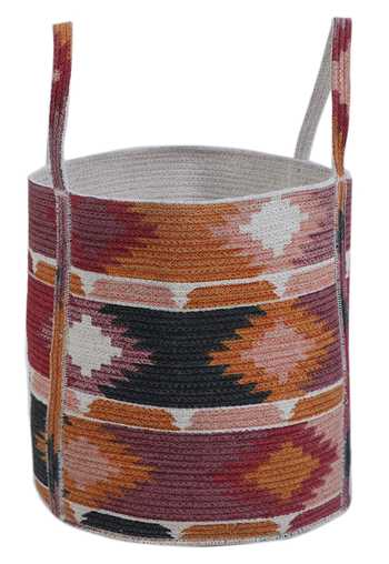 Cotton Braided Printed Basket