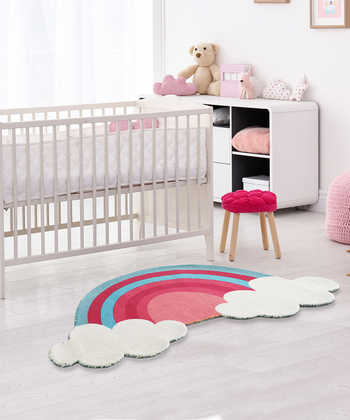 RAINBOW WITH CLOUDS RUG