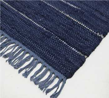 Hand Woven Cotton Chindi Rug