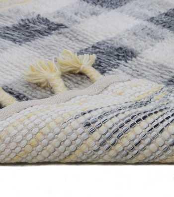 Hand Woven Woollen Shag Rug