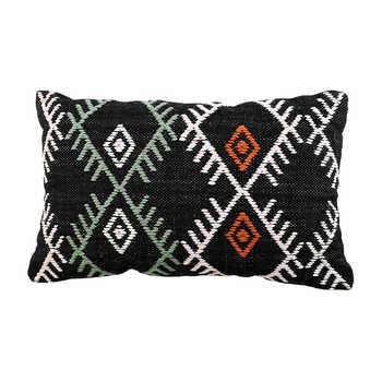 Black cotton woven cushion
