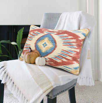 Multi Ikat Digital Print Cushion