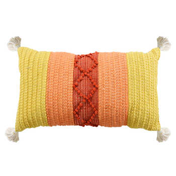 Multi Hand Woven Cotton Cushion