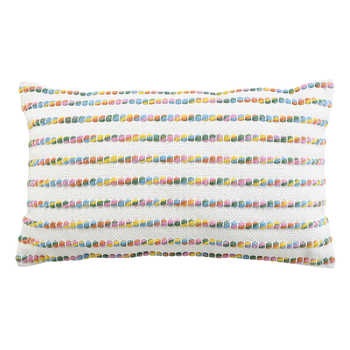 Ivory Multi Pet Woven Cushion