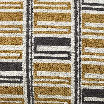Mustard And Navy Jacquard Cotton Cushion