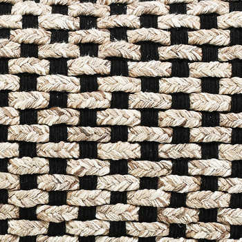 Black And Beige Cotton Handwoven