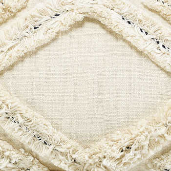 Ivory Hand Embroidered Cotton Cushion