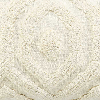 Ivory Cotton Tufted Pillow