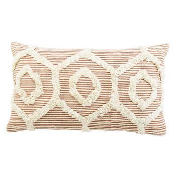 Rust Hand Woven Cotton Cushion