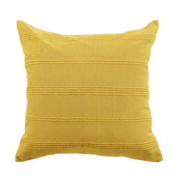 Mustard Cotton Jacquard Cushion