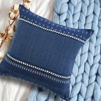 Blue Handwoven Pet Cushion