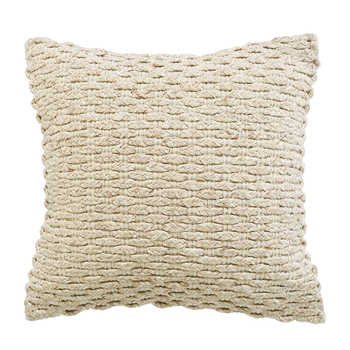 Ivory Cotton Handwoven Cushion