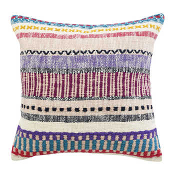 Multi Color Handwoven Cushion