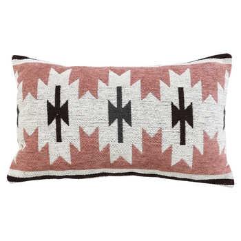 Rouge Pink Jacquard Cushion