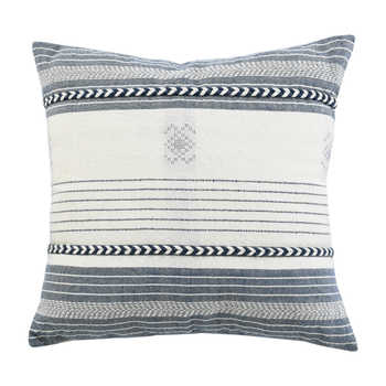 Ivory Blue Hand Woven Pet Cushion