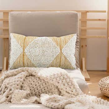 Wheat Woven Cotton Cushion