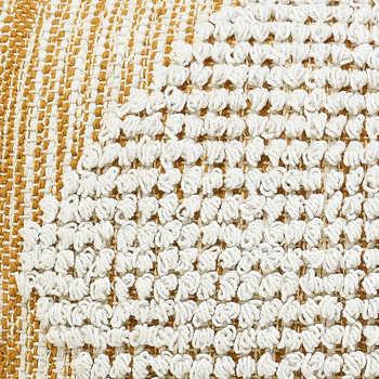 Mustard Ivory Woven Cotton Cushion