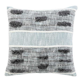 Grey Hand Woven Cotton Cushion