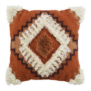 Rust Kilim Wool Woven Cushion