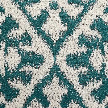 Green Jacquard Cushion With Tassels