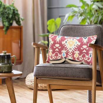 Pink Ikat Digital Print Cushion