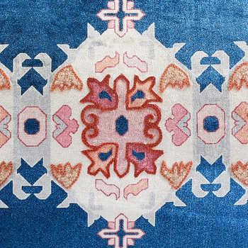 Multi Chenille Digital Print Cushion With Tassels