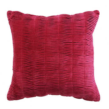 Fuchsia Pink Chenille Fabric Cushion
