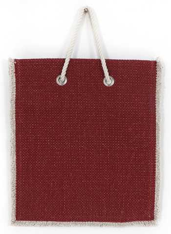 Red Cotton Knitted Shopping/Carry Bag