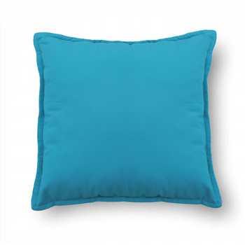 Blue Plain Chenille Cushion Cover