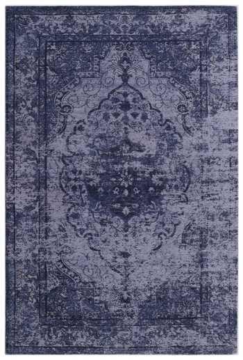 Jacquard Woven Blue Chenille Rug